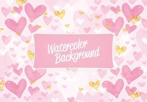 Vektor-Valentinstag-Aquarell-Muster