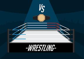 Wrestling-Ring-freier Vektor