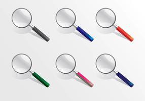 Lupa-Vektor-realistische unterschiedliche Farbe vektor