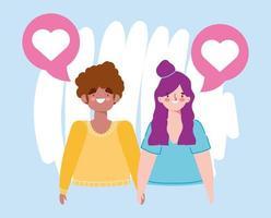 Geburtstag oder Treffen mit Freunden, Paar romantisches Date zusammen Händchen haltend