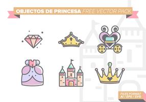 Castillos de Princesa Kostenlose Vector Pack