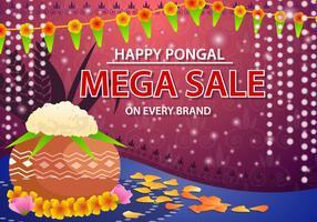 Glücklicher Pongal-Verkaufs-Vektor vektor
