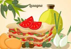 Schichten Lasagne-Vektor