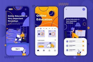 online-utbildning unik design för berättelser om sociala nätverk. vektor
