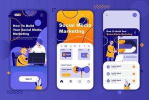 social media marknadsföring unik design för sociala nätverk berättelser. vektor