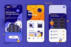Webhosting-Anbieter einzigartiges Design für Geschichten aus sozialen Netzwerken. vektor