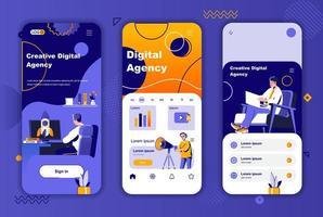 einzigartiges Design der digitalen Agentur für Geschichten aus sozialen Netzwerken. vektor