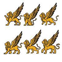 geflügelter Löwenvektor vektor