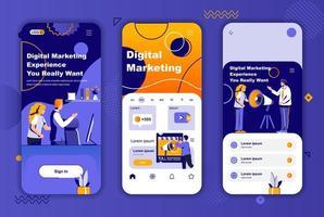 digital marknadsföring unik design kit för berättelser om sociala nätverk. vektor
