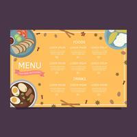 Thailand Essen Menü Vektor Vorlage
