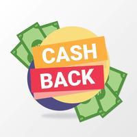 Bargeld zurück Zeichen Design