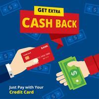 Bargeld zurück Illustration Vektor
