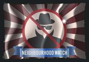Nachbarschafts-Wachflagge vektor