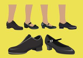 Tippen Sie auf Schuh-Vektor-Sammlung vektor