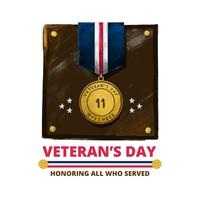 Gratis Veteransdag Akvarell Vector