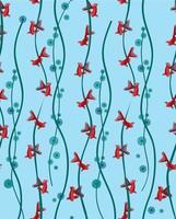 Fisch nahtloses Muster. Unterwasser Meerestier Hintergrund vektor