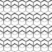 abstraktes nahtloses Muster. stilvolle Verzierung der gepunkteten Linie mit geometrischen Formen.