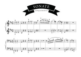 Sonatenlied von Beethoven vektor