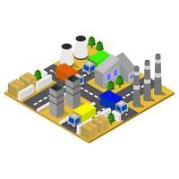 isometrisk industri på vit bakgrund