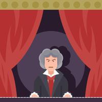 Beethoven spielt Klavier vektor