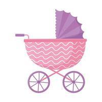 baby shower, barnvagn för tjej