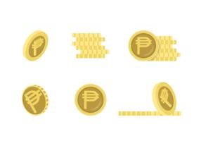 Peso-Ikonen geben Vektor-Satz frei