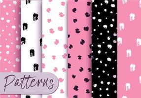 Pink Dots Musterset vektor