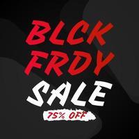 svart fredag marknadsföringsbanner vektor