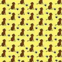 brun hund mönster design på pastell bakgrund