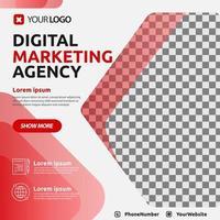 mall för digital marknadsföringsmall för sociala medier
