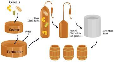 bourbon processvektorer vektor