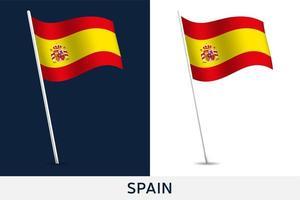 spanien vektor flagga