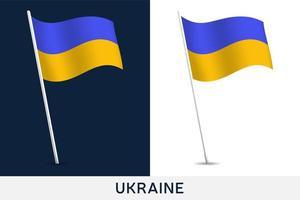ukrainische Vektorflagge