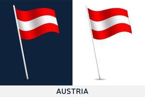 Österrike vektor flagga