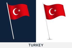 Turkiet vektor flagga