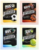 sport reklamblad annonsuppsättning vektor