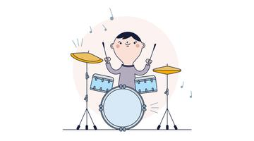 Schlagzeug-Vektor