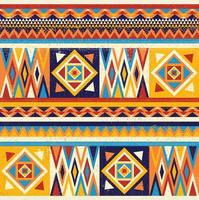 buntes afrikanisches Textildesign. Kente Stoffdruck Design, afrikanische Kultur vektor