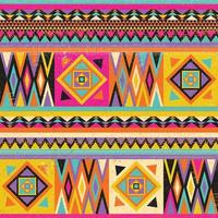 buntes afrikanisches Textildesign. Kente Stoffdruck Design, afrikanische Kultur