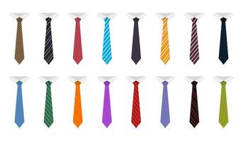 Krawattenvektor-Designillustration lokalisiert auf weißem Hintergrund