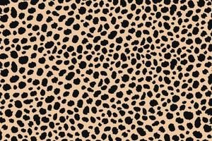 abstrakte Punkte Tierdruckdesign. Leopardenmuster. Gepardenhaut Hintergrund.