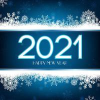 Frohes neues Jahr blau und Gold Hintergrund