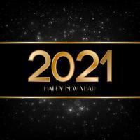 Frohes neues Jahr schwarz und gold Hintergrund