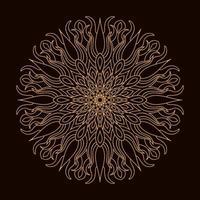 goldenes Luxus kreisförmiges Mandala. dekorative Verzierung im ethnisch orientalischen Stil. Malbuch Seite.