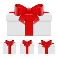 Geschenkbox-Vektorentwurfsillustration lokalisiert auf weißem Hintergrund