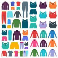 Sportbekleidung Vektor-Design-Illustration lokalisiert auf weißem Hintergrund