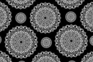 kreisförmiger Mandala Hintergrund. dekorative Verzierung im ethnisch orientalischen Stil. Malbuch Seite.
