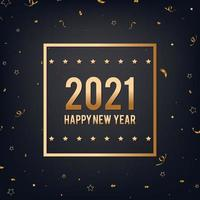 gott nytt år svart och guld bakgrund