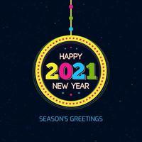 gott nytt år 2021 gratulationskort
