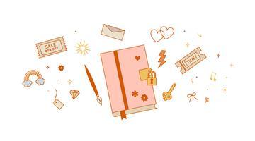 Intim dagbokvektor